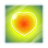 Love heart Valentine's Day background — Stockvector