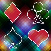 покер карты казино игры белый фон — Cтоковый вектор