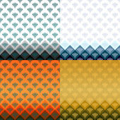 Beautiful pattern set background — Stock Vector