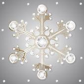 Jewelry diamonds winter snowflakes — Stock Vector