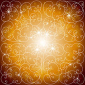 Beautiful winter shiny golden pattern background vector — Stok Vektör