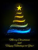 Cartão de natal ou ano novo — Vetorial Stock