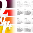 2014 New Year calendar raster — Stock Photo #34832149