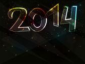 Happy New Year neon background — Stock Vector