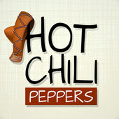Chilli pepper background poster placard — Stock Vector