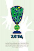 Mistrzostwa świata w piłce nożnej 2014 02 — Wektor stockowy