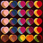 Hearts retro background — Stock Vector