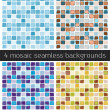 Stock Vector: Abstract mosaic backgrounds set 02