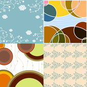 Abstract pattern background set — Stock Vector