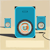 Vintage music sound speakers backgrounds 01 — Stock Vector