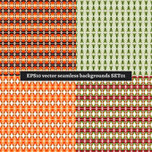 Set of seamless backgrounds vector — Stock Vector