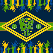 Brazil football background or poster — Stock Vector