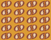 Seamless pattern retro pop art background brown orange — Vetorial Stock