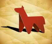 Horse equine hoss dobbin prad day — Stock Vector