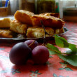 Plums and apple-pie — Stok fotoğraf
