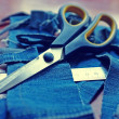 Jeans & scissors — Stock Photo #30170819