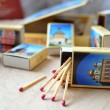 Matches & a set of match-boxes — Stock Photo