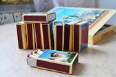 Partidos y un conjunto de cajas de cerillas — Foto de Stock