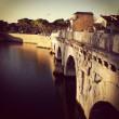 Ponte di Tiberio. Rimini. — Stock Photo