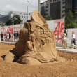 Stock Photo: PERM - JUNE 10: Sand sculpture William Hazlitt at festival White