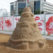 PERM - JUNE 10: Sand sculpture Music at festival White Nights, o — Stock Photo