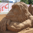 Stock Photo: PERM - JUNE 10: Sand sculpture Ape at festival White Nights, on