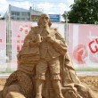 PERM - JUNE 10: Sand sculpture Shakespeare at festival White Nig — Stock Photo