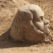 Stock Photo: PERM - JUNE 10: Sand sculpture Socrates at festival White Nights