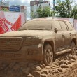 Stock Photo: PERM - JUNE 10: Sand sculpture Toyotcar at festival White Nigh