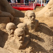 Stock Photo: PERM - JUNE 10: Sand sculpture Lenin at festival White Nights, o