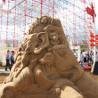 Stock Photo: PERM - JUNE 10: Sand sculpture Animals at festival White Nights,