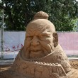 Stock Photo: PERM - JUNE 10: Sand sculpture Genghis Khhead at festival Whi