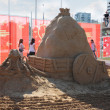 PERM - JUNE 7: Sand sculpture Ant at festival White Nights, on J — Stock Photo