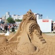 PERM - JUNE 7: Sand sculpture Ideas of Albert Einstein at festiv — Stock Photo