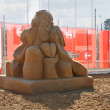 Stock Photo: PERM - JUNE 7: Sand sculpture Love of Chekhov by Ingrid Struense