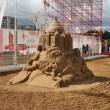 PERM - JUNE 10: Sand sculpture Omar Khayyam by Konstantin Siryac — Photo