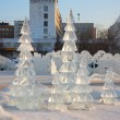 Stock Photo: PERM - FEBRUARY 17: Firs in Ice town, on February 17, 2012 in Pe