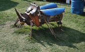 PERM - JUNE 7: Metal sculpture Beetle at festival White Nights, — Stock Photo