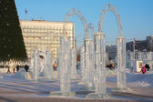 PERM - FEBRUARY 17: Ice town at sunny day, on February 17, 2012 — Stock Photo