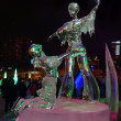 PERM, RUSSIA - JAN 11, 2014: Illuminated sculpture figure skatin — Stock Photo