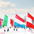 PERM, RUSSIA - JAN 6, 2014: Flags of participating countries (Gr — Stock Photo
