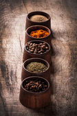 Spice on wooden table — Stock Photo