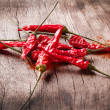 Red pepper on a wooden table — Stock Photo