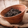 Stock Photo: Dried tea leaves