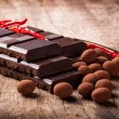 Chocolate with red pepper — Stock Photo