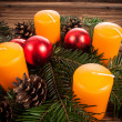 Advent candles — Stock fotografie