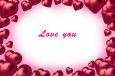 St.valentines corazón sobre un fondo blanco — Foto de Stock