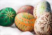 Easter eggs on white background — 图库照片