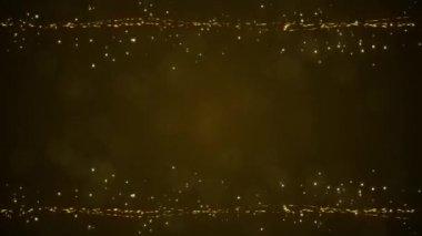 抽象的な粒子、黄色の背景色 — ストックビデオ