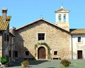 церковь в селе — Стоковое фото